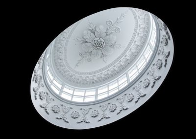 Ceiling dome plasterwork