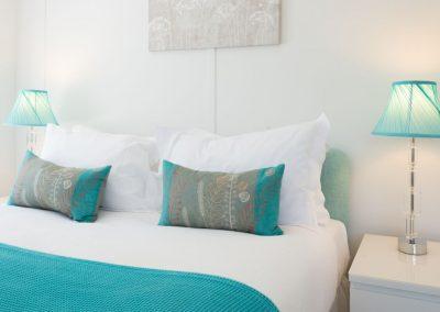 Turquoise cushions
